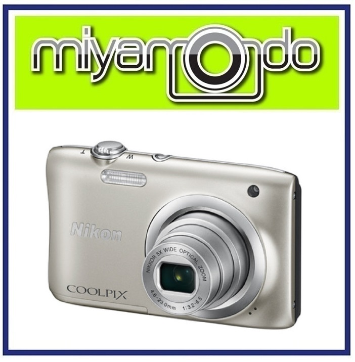 NEW Nikon Coolpix A100 SILVER Camera (Malaysia Warranty) + 8GB +Case