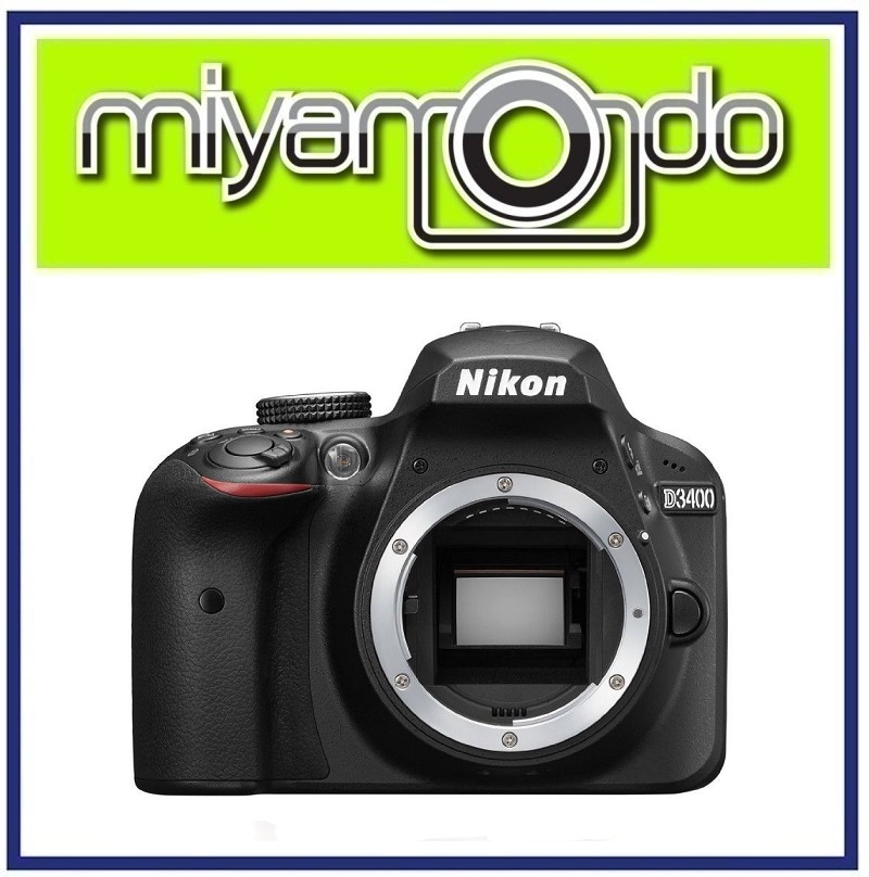 NEW Nikon D3400 Body (Black) DSLR Camera