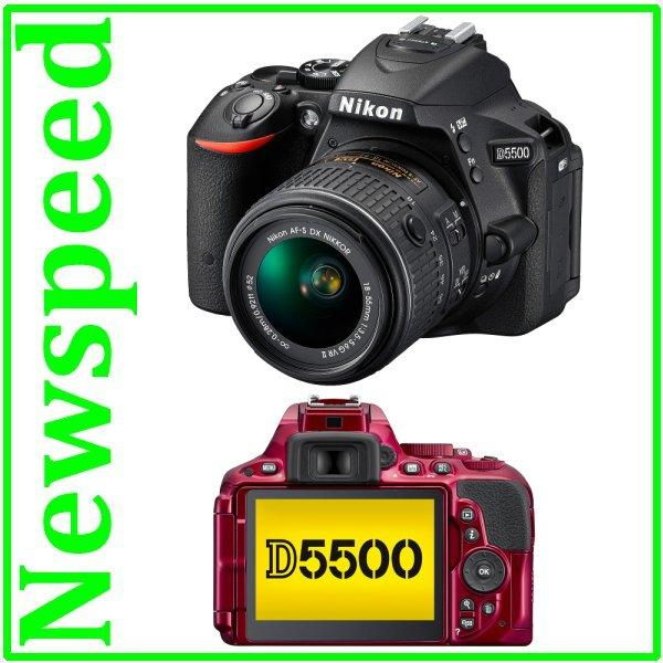 New Nikon D5500 18-55mm VR II Lens Digital DSLR Camera +8GB+Bag
