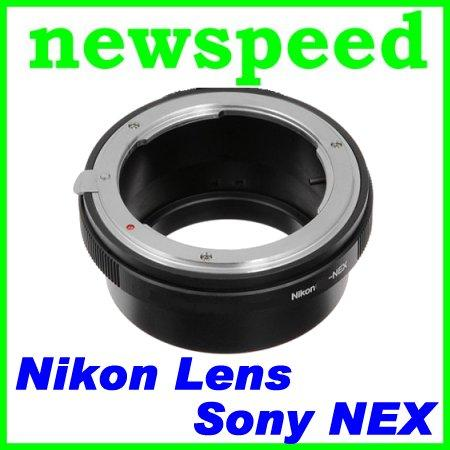 Nikon Lens to SONY E Mount NEX5 NEX3 Camera Adapter