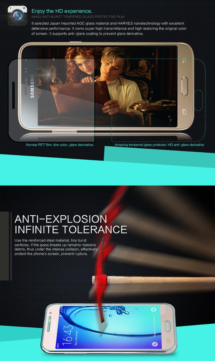 Nillkin Anti-Burst Tempered Glass Screen Protector Samsung Galaxy E7