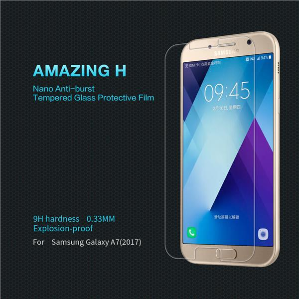 Nillkin Anti Explosion Tempered Glass for Samsung Galaxy A7 2017