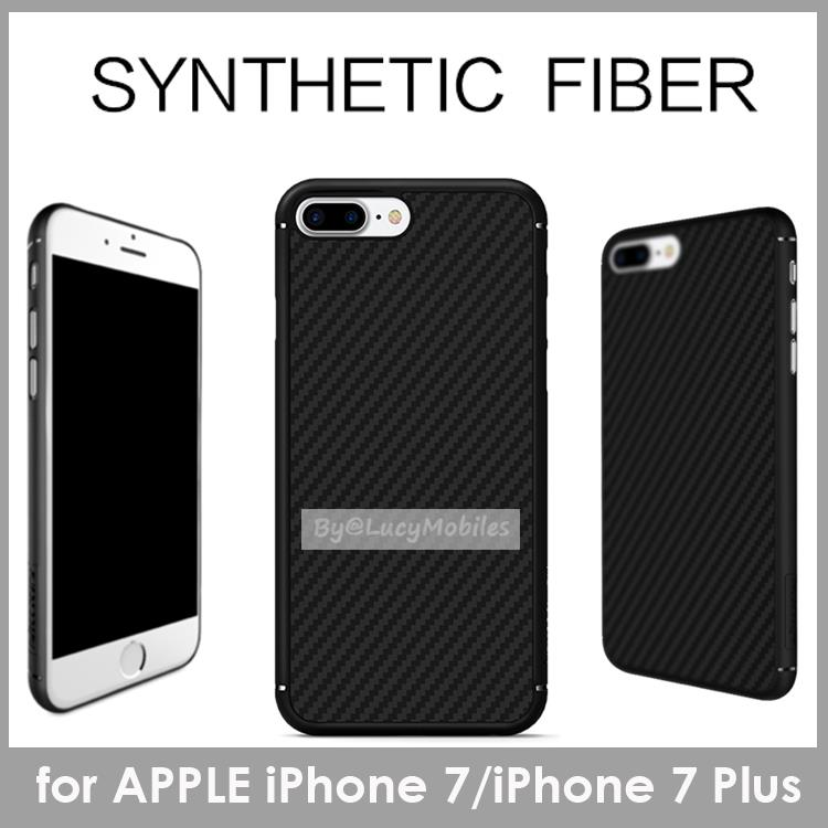 NILLKIN APPLE iPhone 7 Plus Synthetic Fiber Case Casing Cover BLACK