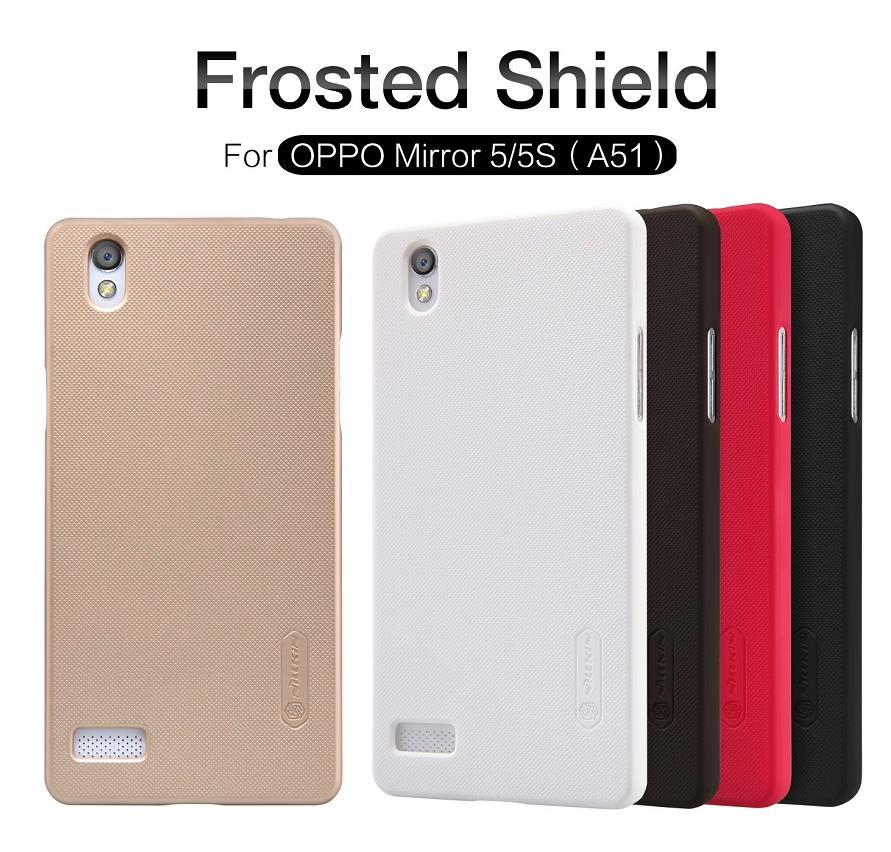 Nillkin OPPO Mirror 5 5S A51 Frosted Shield Case Cover Casing +Gift