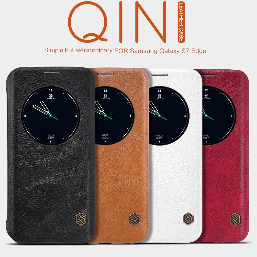 Nillkin QIN Samsung Galaxy S7 Edge QIN PU Leather Case Cover