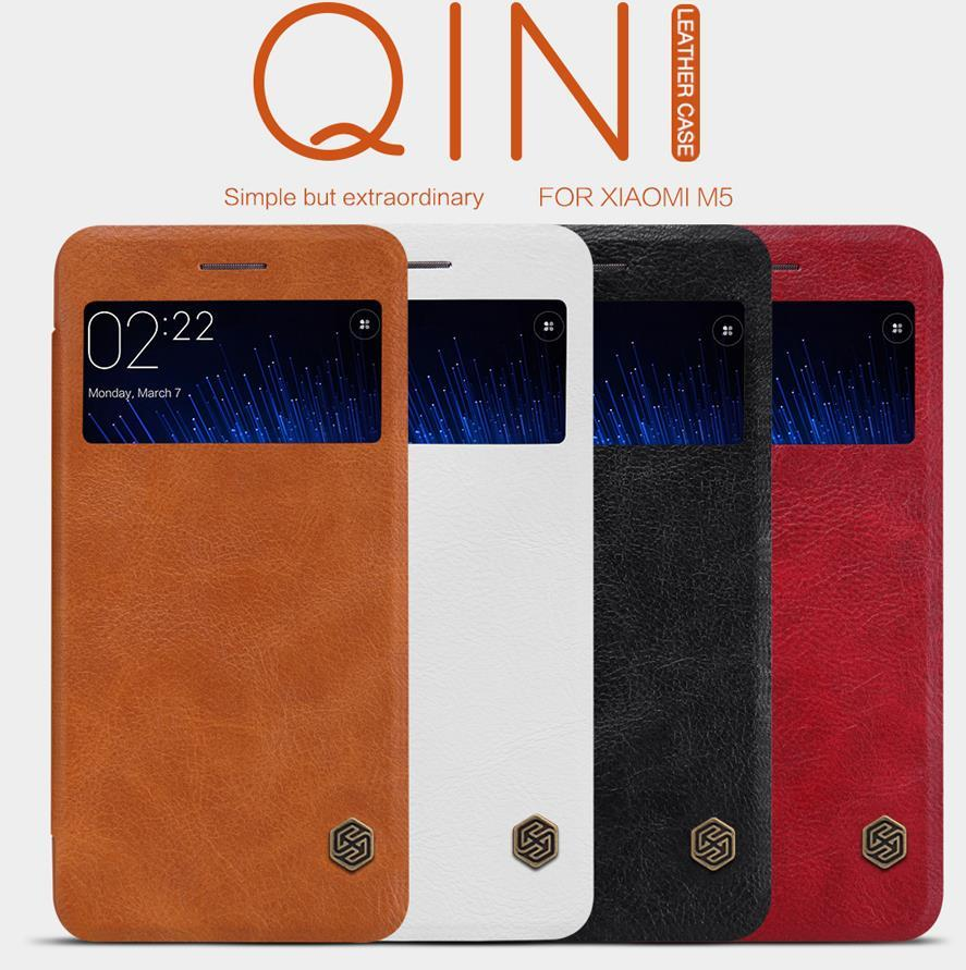 Nillkin Xiaomi Mi 5 Mi5 Flip Qin Leather Case Cover Casing + Free Gift