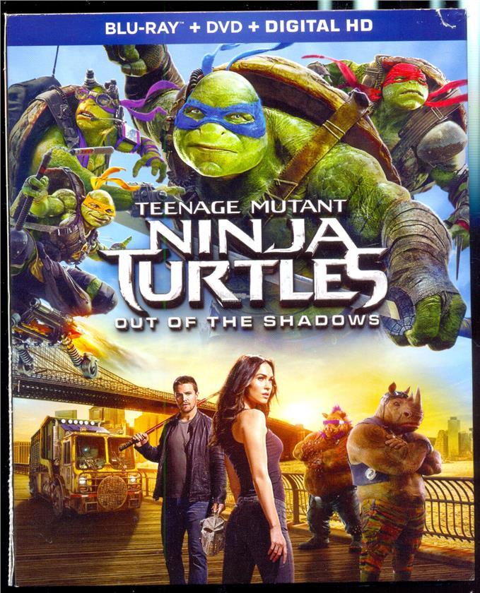 Ninja Turtles Out Of The Shadows - New Blu-Ray