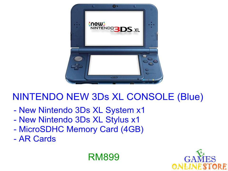 Nintendo New 3Ds XL Console [US/Asia] (Blue) ★Brand New & Sealed..