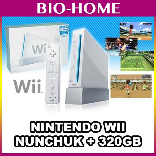Nintendo Wii + Remote Nunchuk + 320GB HDD FULL Games + Accessories