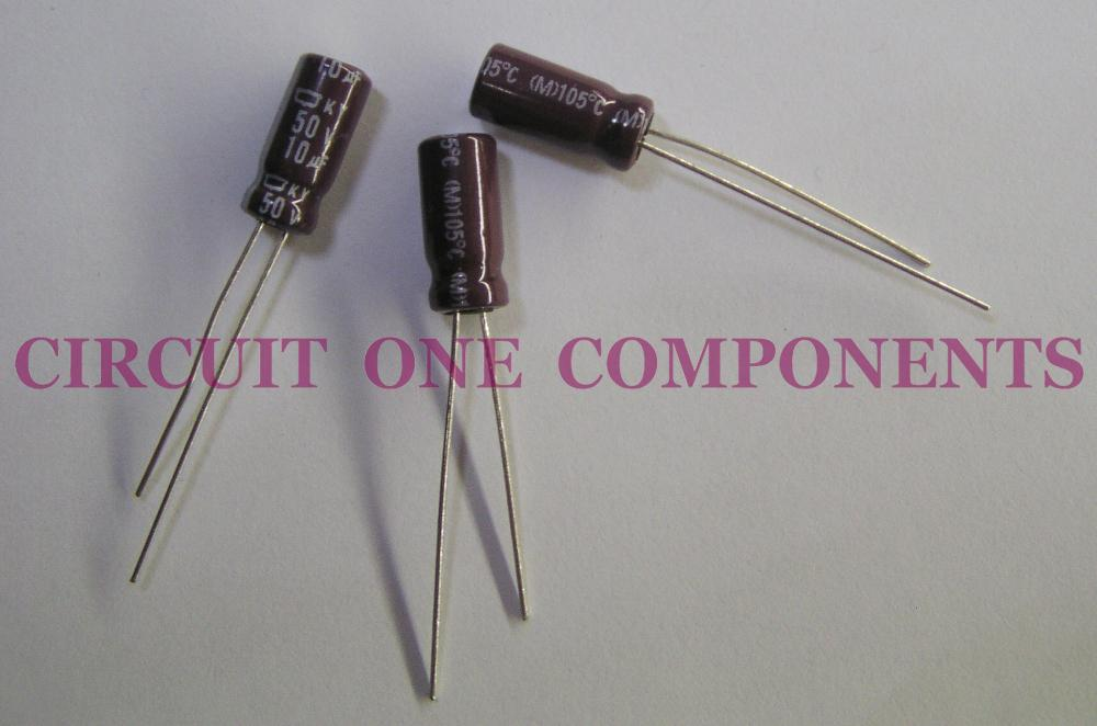 NIPPON CHEMICON 10uF 50v Electrolytic Capacitor
