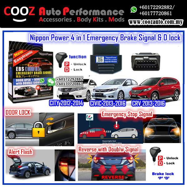 Nippon Power (4 IN 1) OBD D Lock Emergency Brake Signal Honda Crv 2014