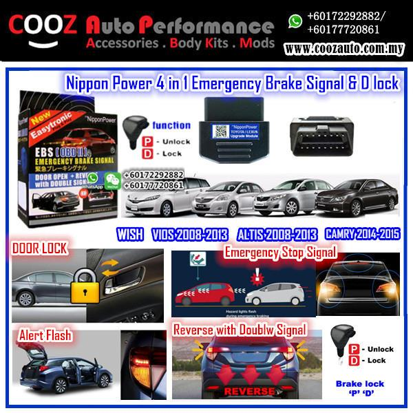 Nippon Power 4 IN 1 OBD D Lock Emergency Signal Toyota Altis 2008-2013