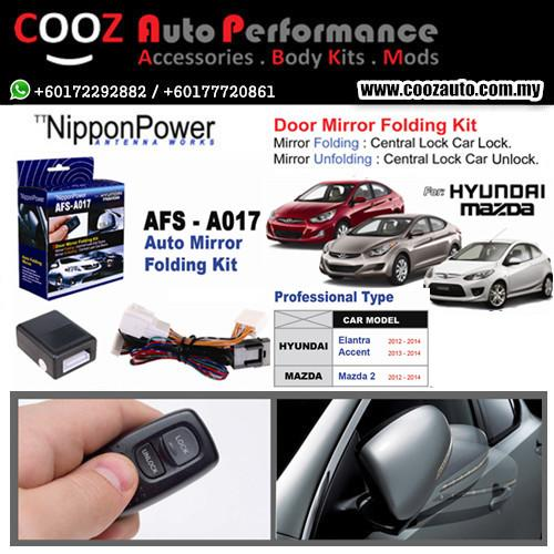 Nippon Power Side Mirror Auto Folding/Fold Kit HYUNDAI ACCENT 13-14