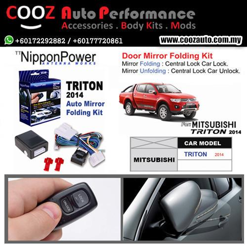 Nippon Power Side Mirror Auto Folding/Fold Kit Mitsubishi Triton 2014+