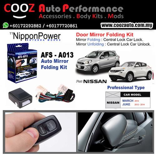 Nippon Power Side Mirror Auto Folding/Fold Kit NISSAN MARCH / JUKE