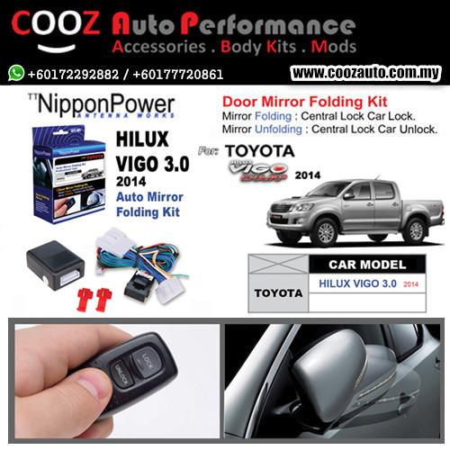 Nippon Power Side Mirror Auto Folding/Fold Kit Toyota Hilux 3.0 2014+