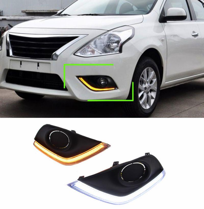 NISSAN ALMERA Fog Lamp LED Daylight Cover with Signal/Turn Function
