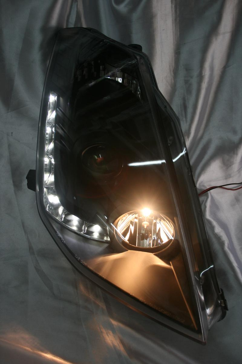 Nissan Fairlady 350z 03-05 Black Face Projector Headlamp with Daytime ..