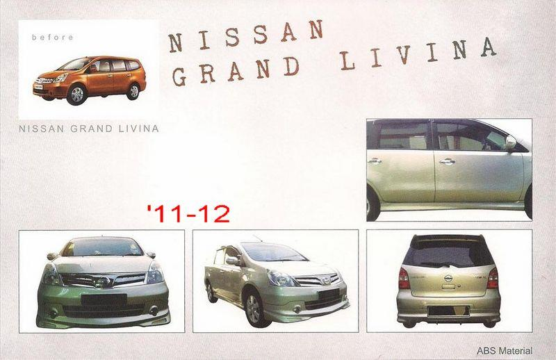 Nissan Grand Livina '11-12 Impul 2 Style Full Set Body Kit ABS