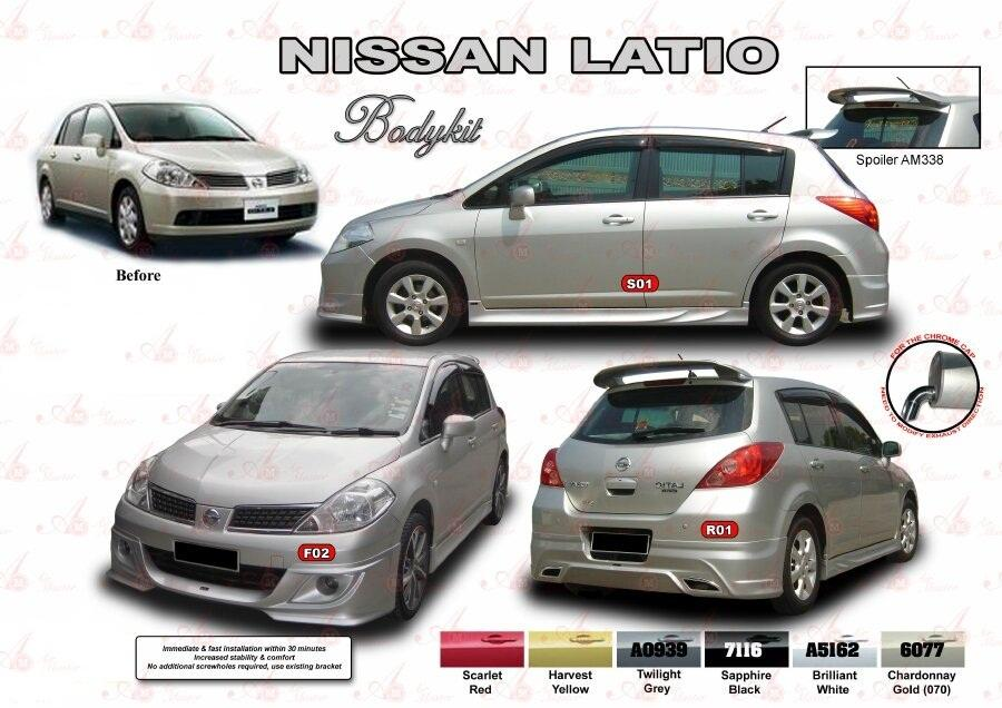 NISSAN LATIO HATCHBACK BODY KITS WITH PAINTING