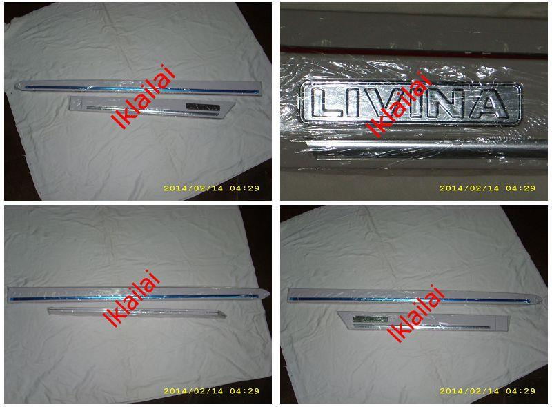 Nissan Livina Impul Door / Side Moulding with Chrome Lining [Painted]