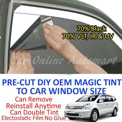 Nissan Livina Magic Tinted Solar Window ( 6 Windows ) 70% Black