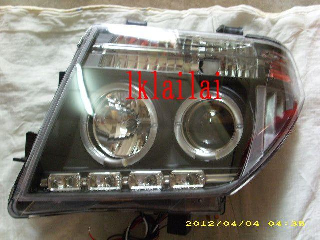 Nissan Navara `07 Head Lamp Crystal Projector WRim+LED[NS71-HL01-U]