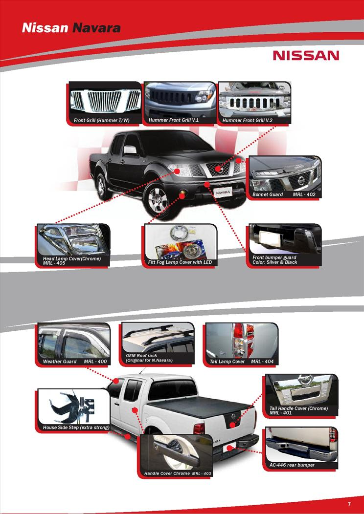 NISSAN NAVARA ACCESSORIES & PARTS 1