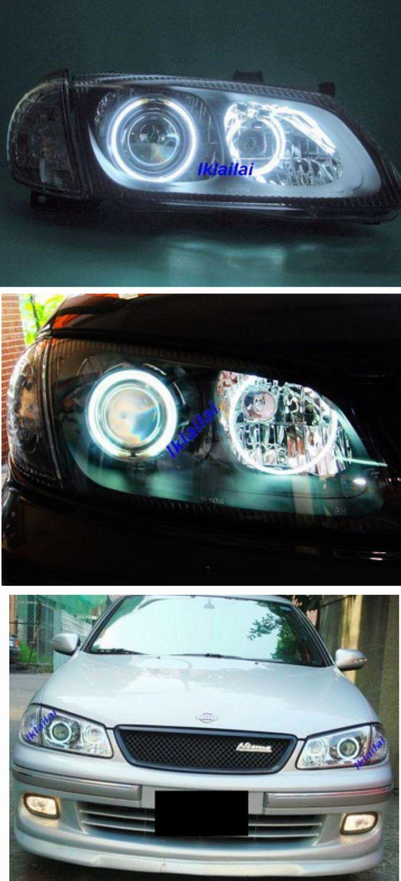 Nissan SENTRA N16 '01 Crystal Projector Black/Chrome Head Lamp