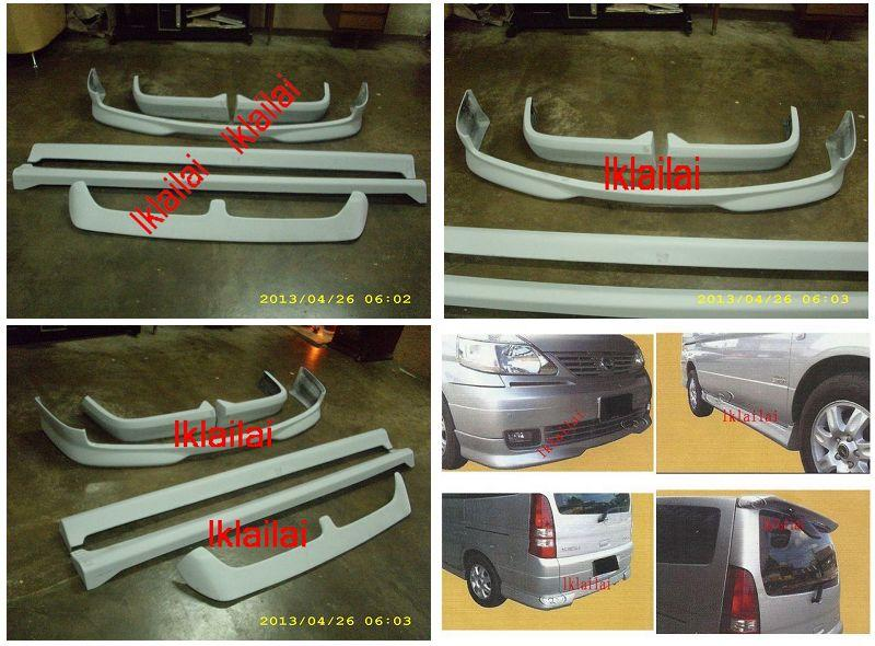 Nissan Serena '05 Full Set Body Kit OEM Style [Skirting+Spoiler] Paint