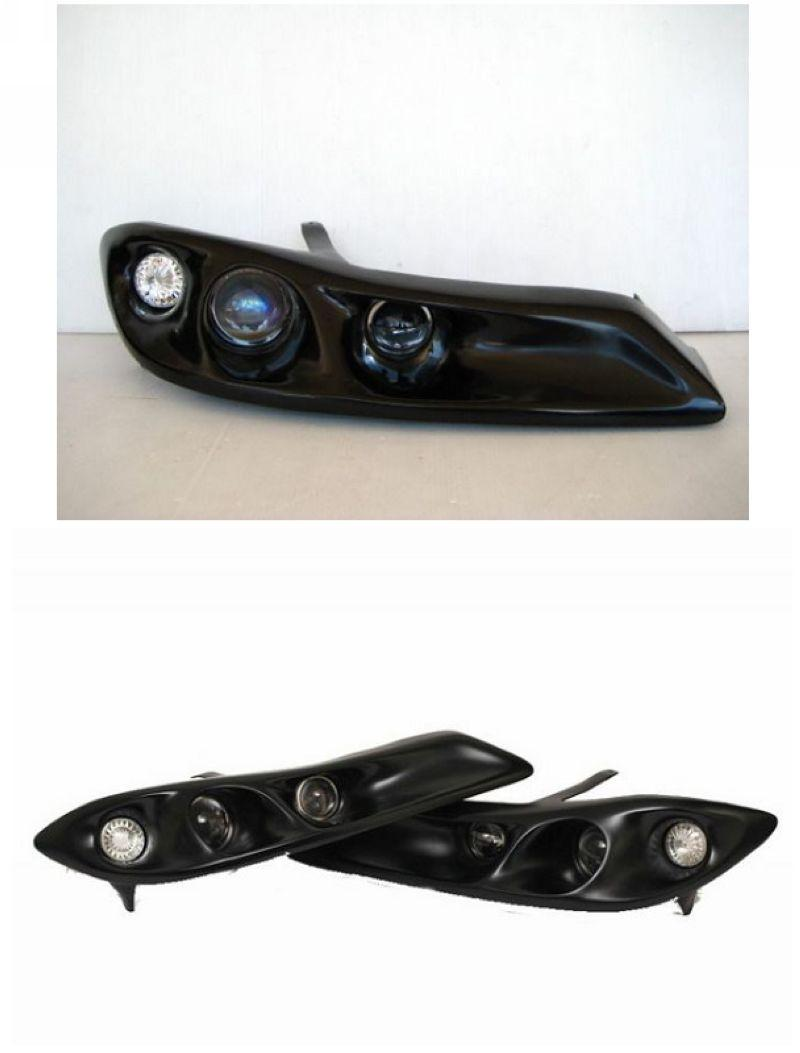 Nissan Silvia 99 S15 LED Ring Projector Head Lamp [Black]