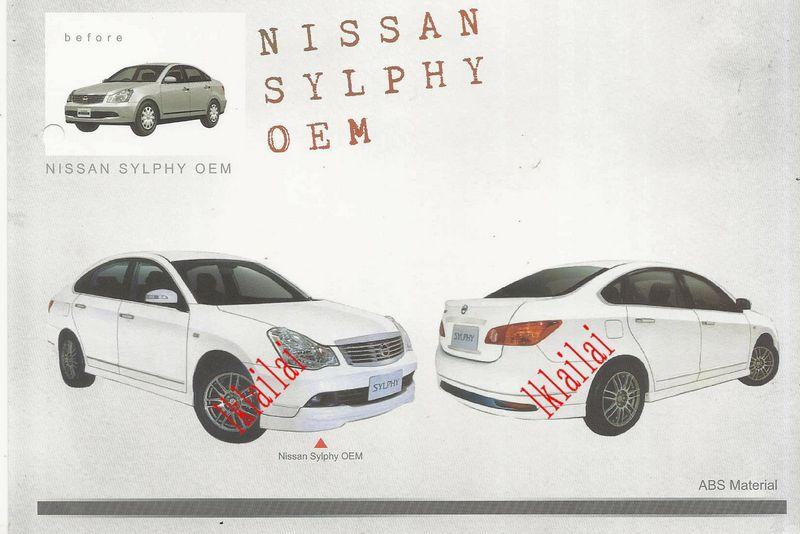 Nissan Sylphy OEM Style Full Set Body Kit ABS Skirting + Spoiler