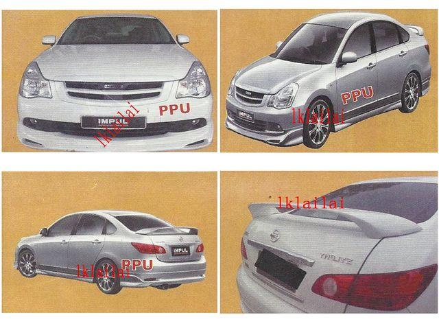 Nissan Sylphy PPU Body Kit IMPUL Style [Grille+Skirt+Spoiler]Paint