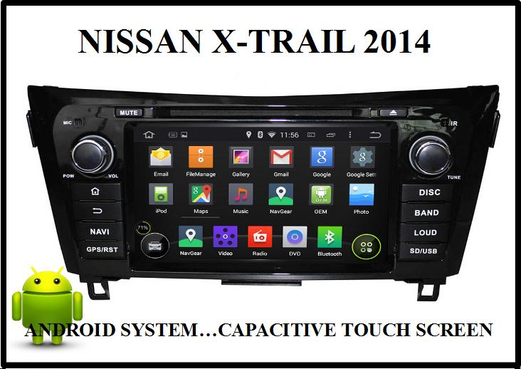 NISSAN X-TRAIL 8' ANDROID OEM CAR DVD PLAYER w CAPACITIVE TOUCH SCREEN