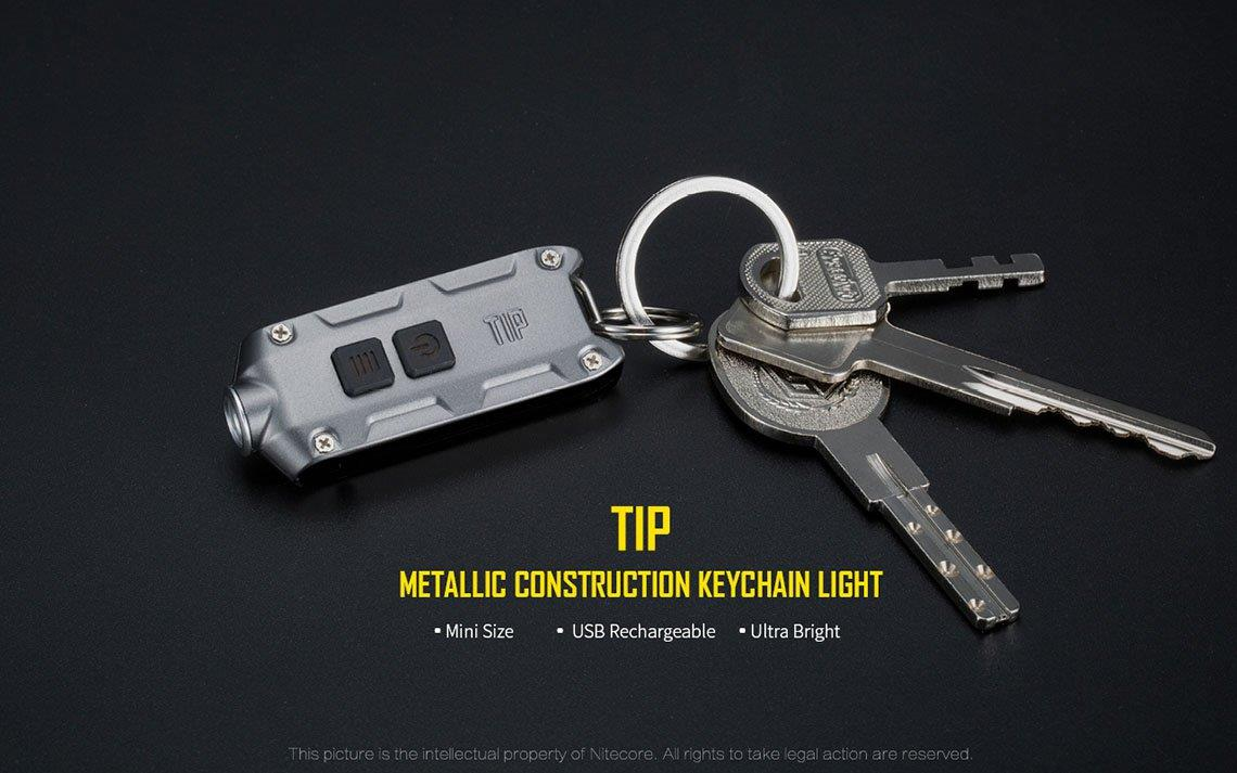 Nitecore TIP with Cree XP-G2 S3 LED Keychain Flashlight - 360 Lumens