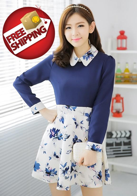 Simple NJooy Woman ElegantFashionSexyCute Korean DresscodeT01WD9585PI