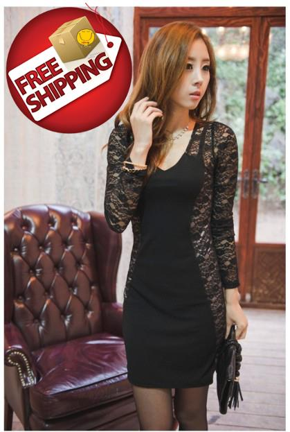 Excellent NJooy Europe Woman Sexy Working Office Dress CodeT01WD6375WH