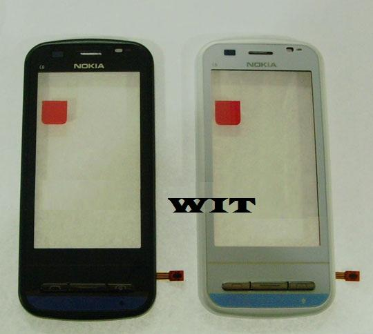 Nokia C6 C6-00 B / W Digitizer Lcd Touch Screen Sparepart Service