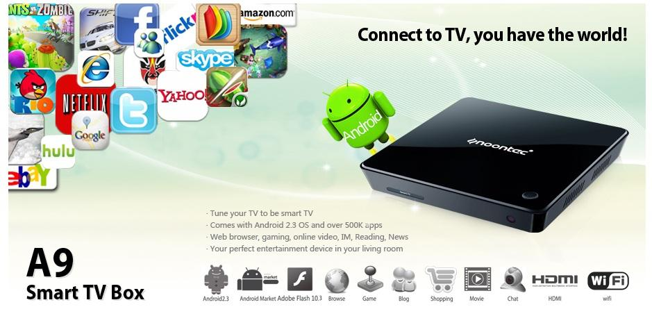 Noontec A9 Smart TV Box Android 2.3 Full HD 1080 Media Player