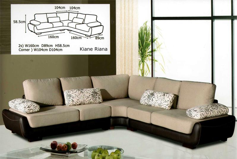 L shaped fabric sofa l shape couch shaped sofa from more for Eckcouch beige