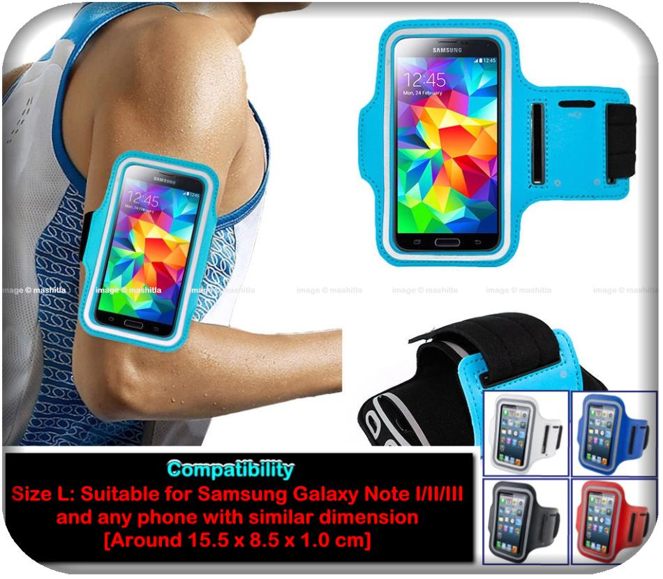 Note 1 2 3  Sports Armband Mobile Phone Case Cover Pouch Holder Arm Sl