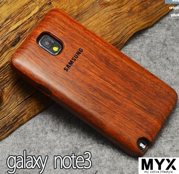 Note 3 Quality Pear Wood Creative Elegant Wooden Casing Case Cover