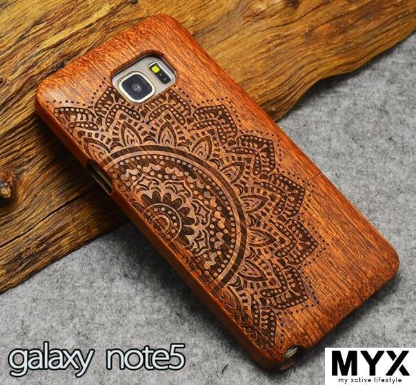 Note 5 Quality Pear Wood Creative Elegant Wooden Casing Case Cover