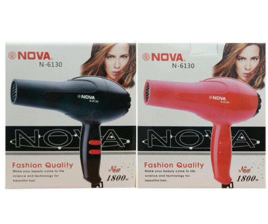 NOVA N-6130 Professional 2 Speed/Compact/Low Noise Hair Dryer 1800W