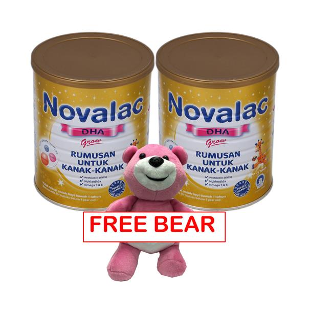 NOVALAC DHA GROW 1-5 Years 800G X 2 tins FREE BEAR