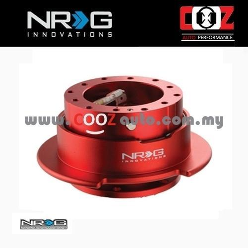 NRG Steering Wheel Quick Release Kit Gen 2.5 - RED