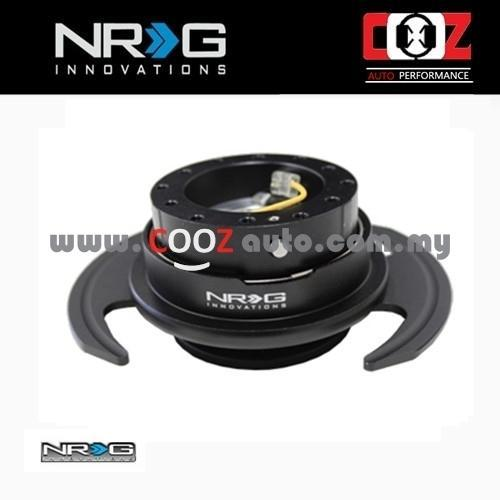 NRG Steering Wheel Quick Release Kit Gen 3.0 - BLACK