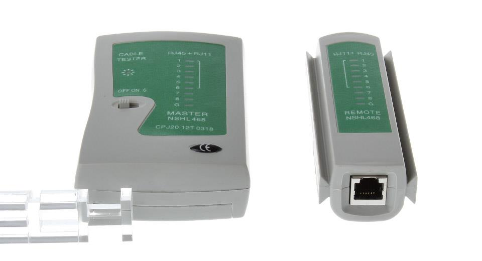NSHL468 2-in-1 RJ11/RJ45 Network/Telephone Cable Tester