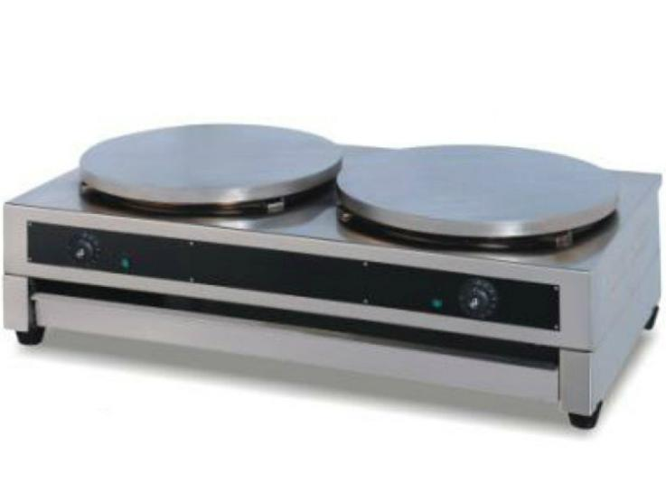 Nuevo DE-2 Commercial Stainless Steel Double Head Crepe Maker 2-Plate