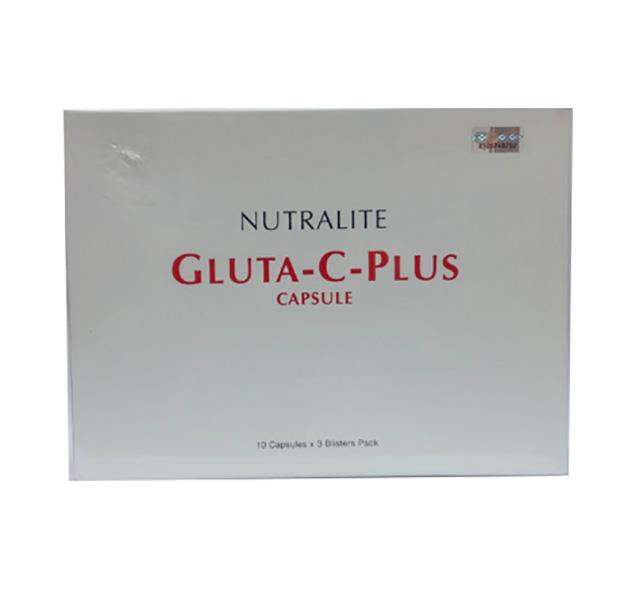 Nutralite Gluta-C-Plus Glutathione + Vitamin C 30s,Lightens Dark Spots